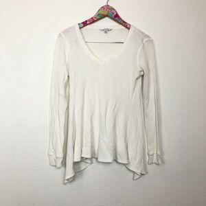 CAbi waffle knit shirt size M // 1377